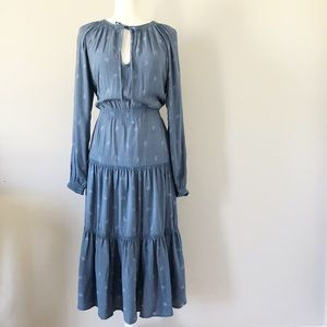 🆕Urban Outfitters Blue Tiered Pilgrim Dress- Sz M